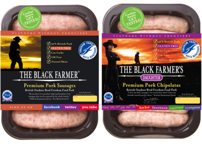 The Black Farmer sausages