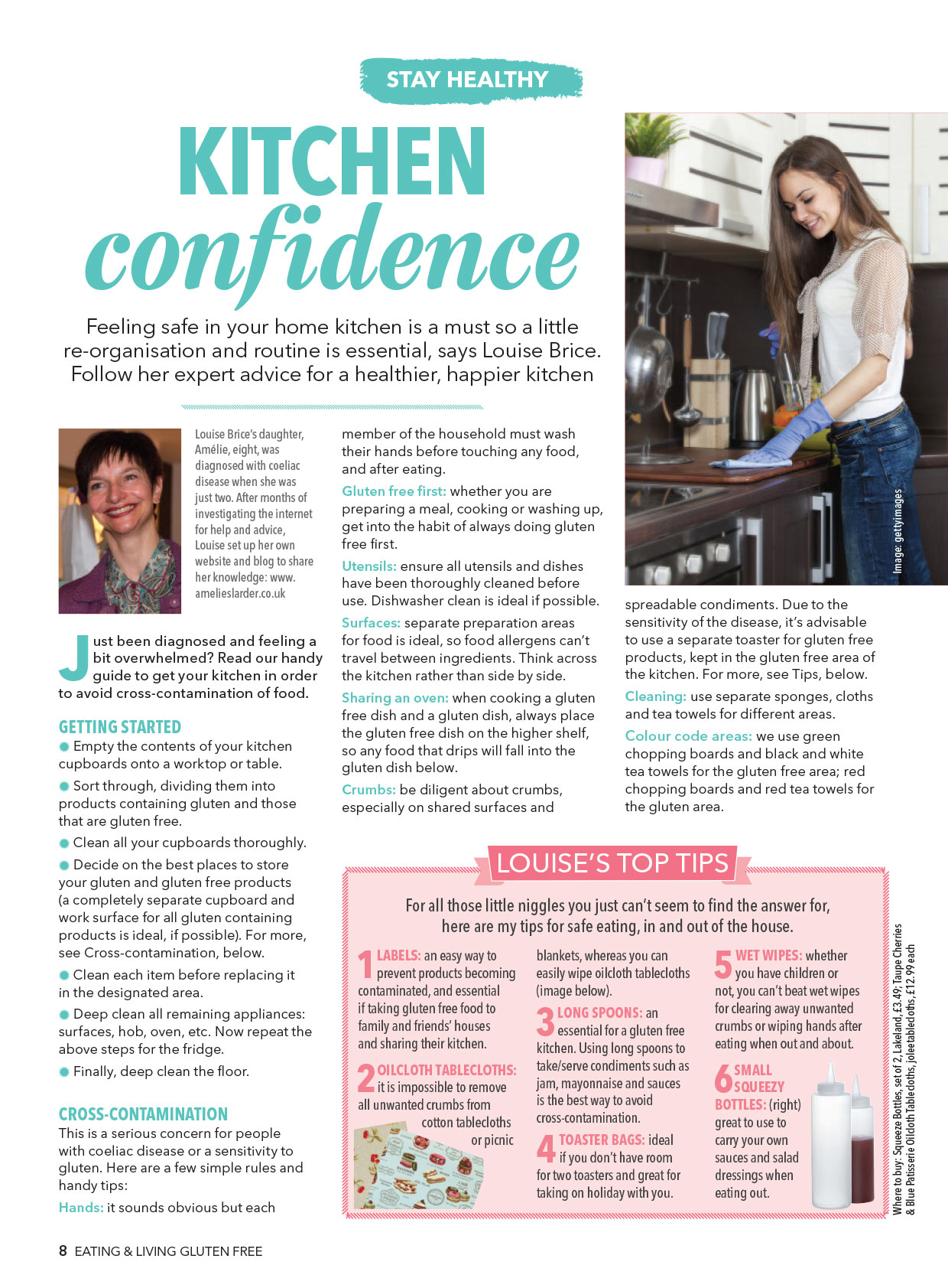 Kitchen Confidence article by Louise Brice